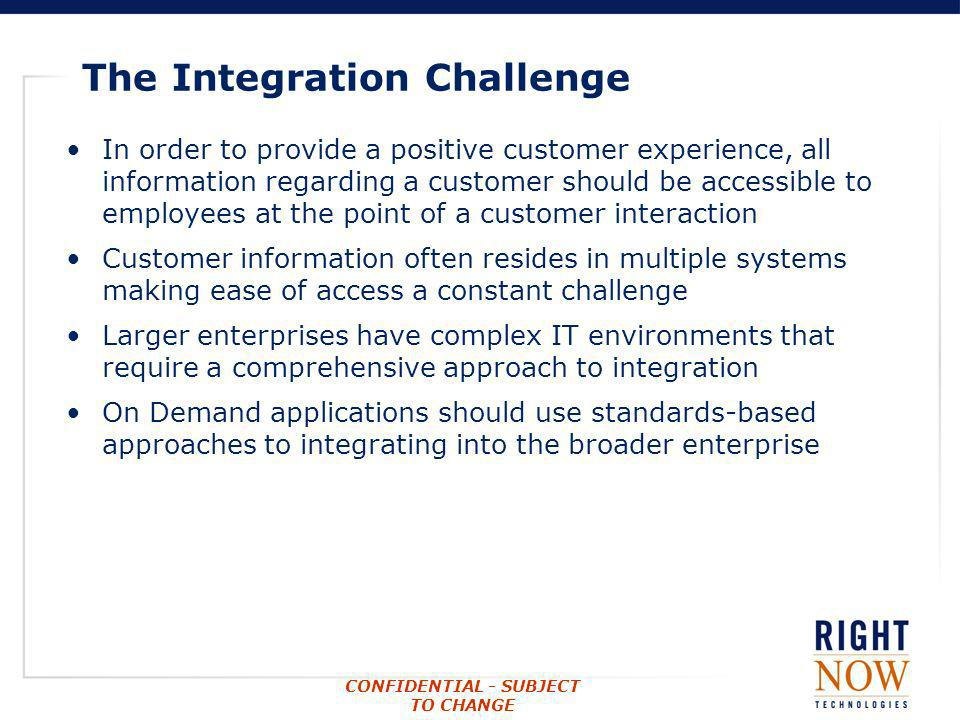 The Integration Challenge