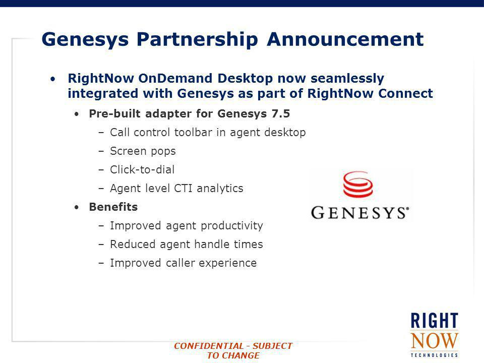 Genesys Partnership Announcement