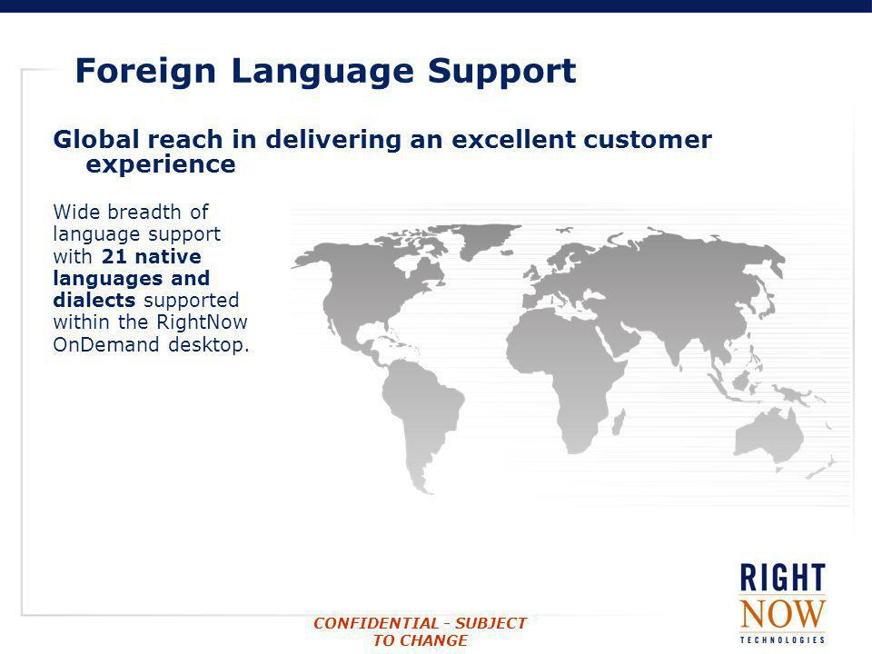 Foreign Language Support