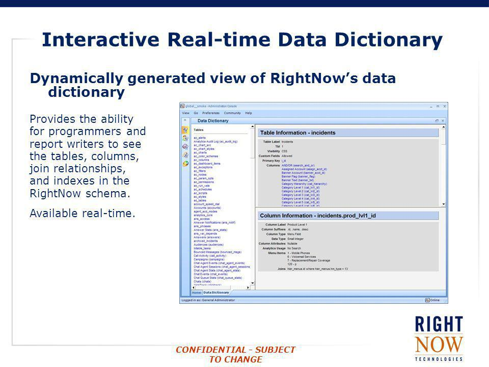 Interactive Real-time Data Dictionary