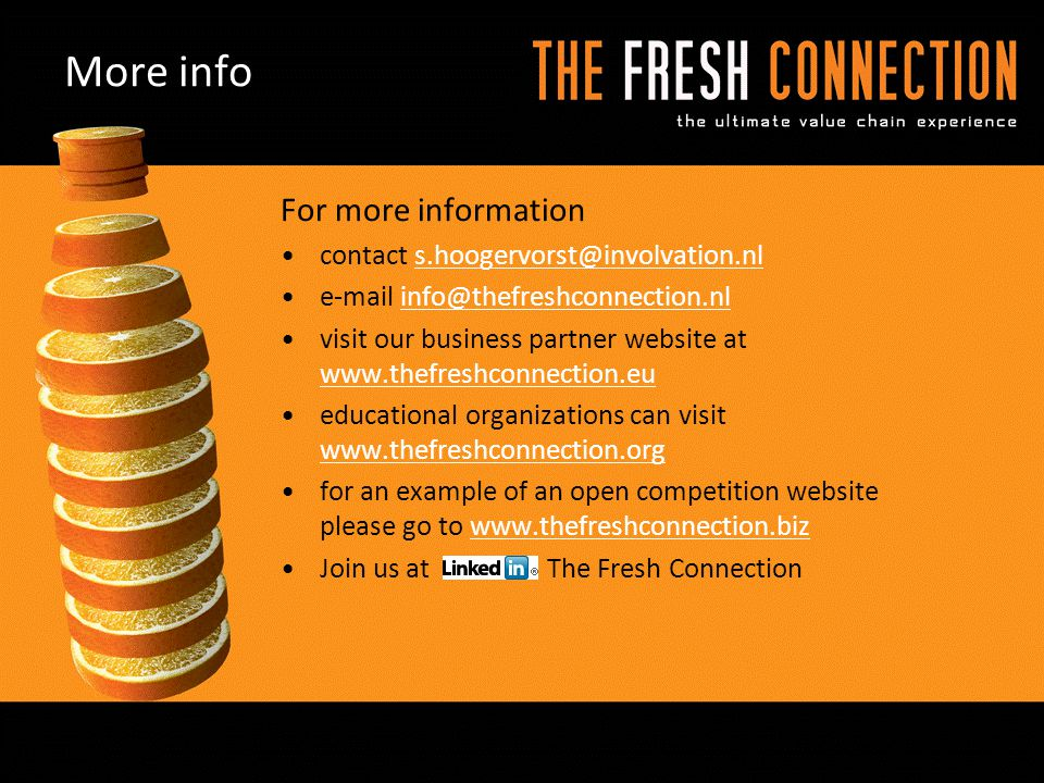 More info For more information contact s.hoogervorst@involvation.nl