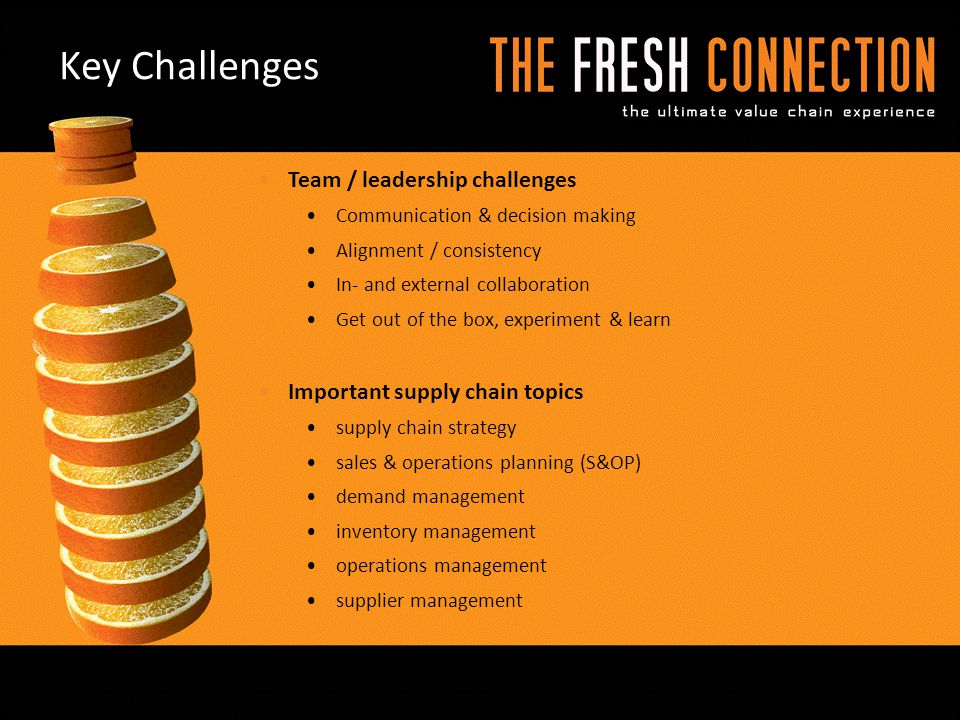 Key Challenges Team / leadership challenges