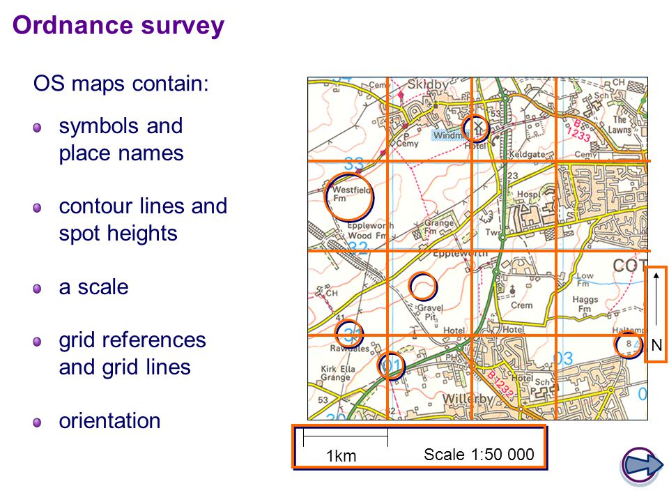 Ordnance survey OS maps contain: symbols and place names
