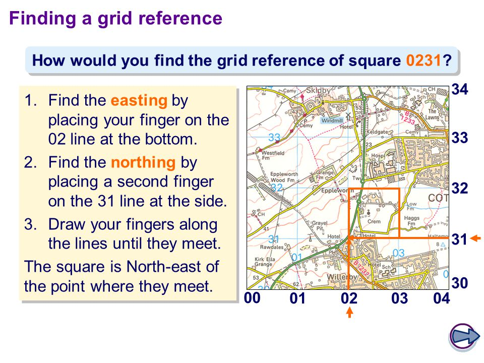 Finding a grid reference