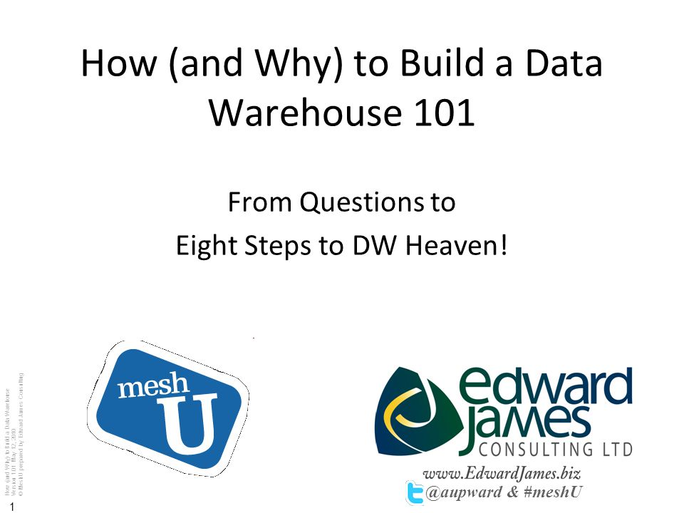 How (and Why) to Build a Data Warehouse 101