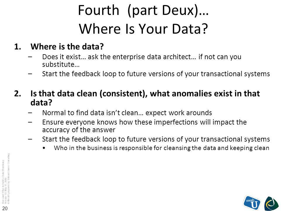 Fourth (part Deux)… Where Is Your Data