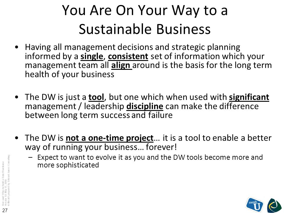 You Are On Your Way to a Sustainable Business