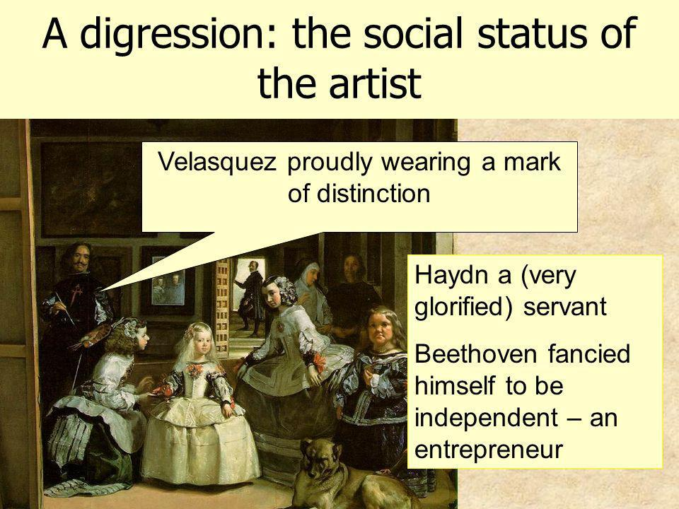 A digression: the social status of the artist