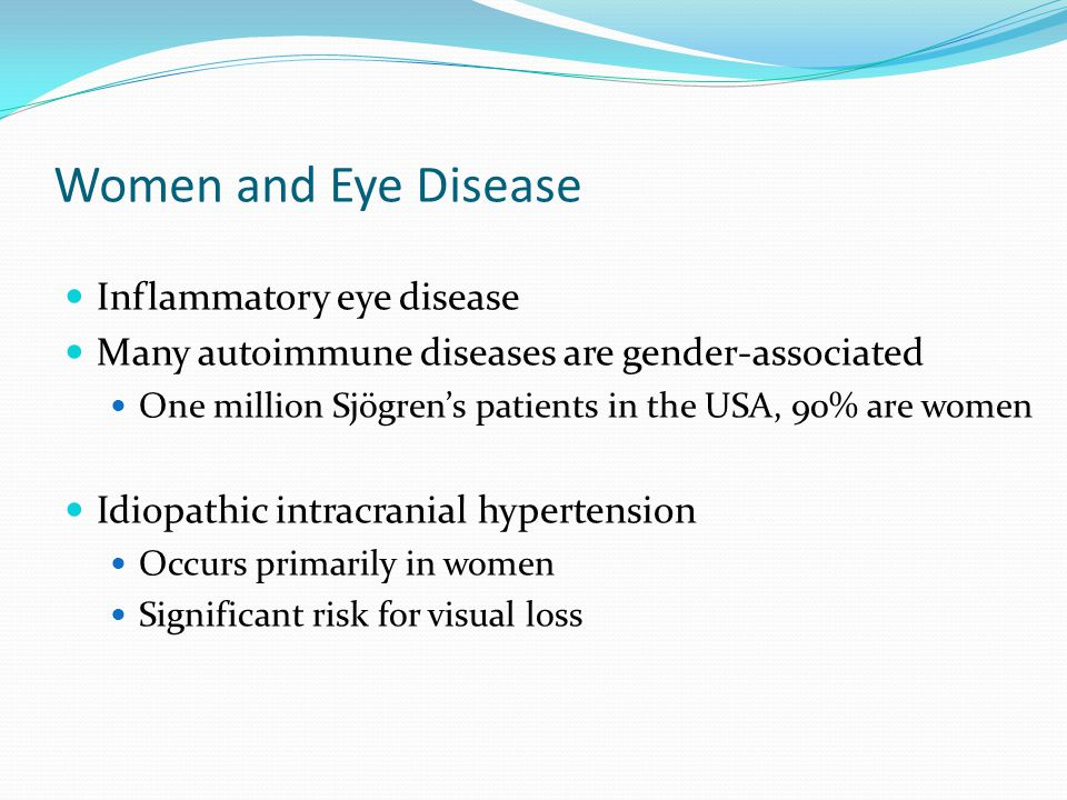 Women and Eye Disease Inflammatory eye disease