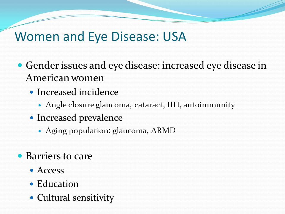 Women and Eye Disease: USA