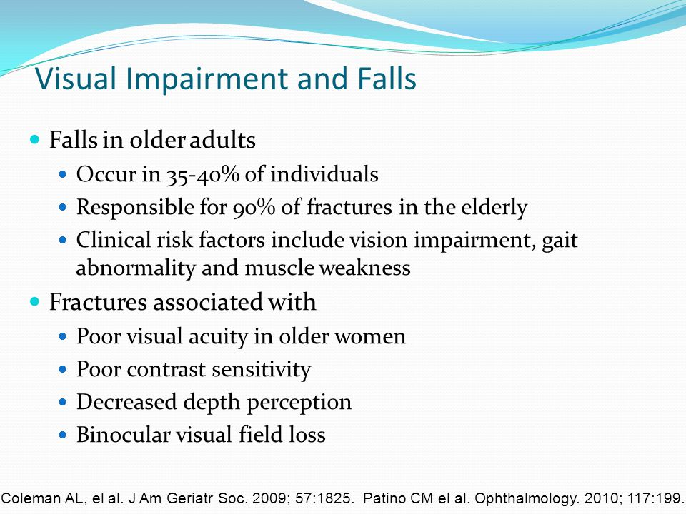 Visual Impairment and Falls