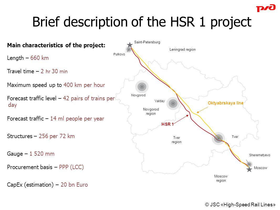 Brief description of the HSR 1 project