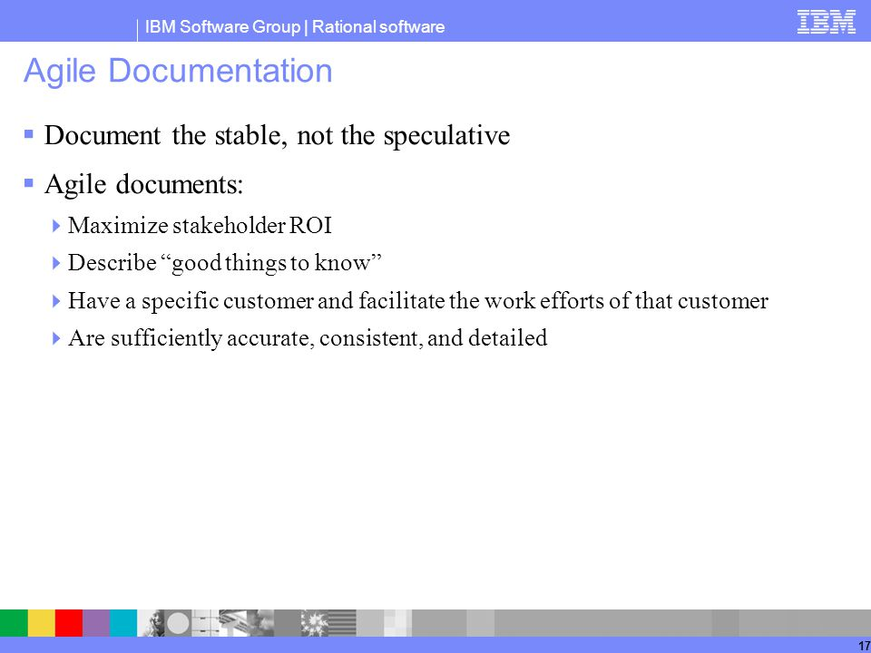Agile Documentation Document the stable, not the speculative
