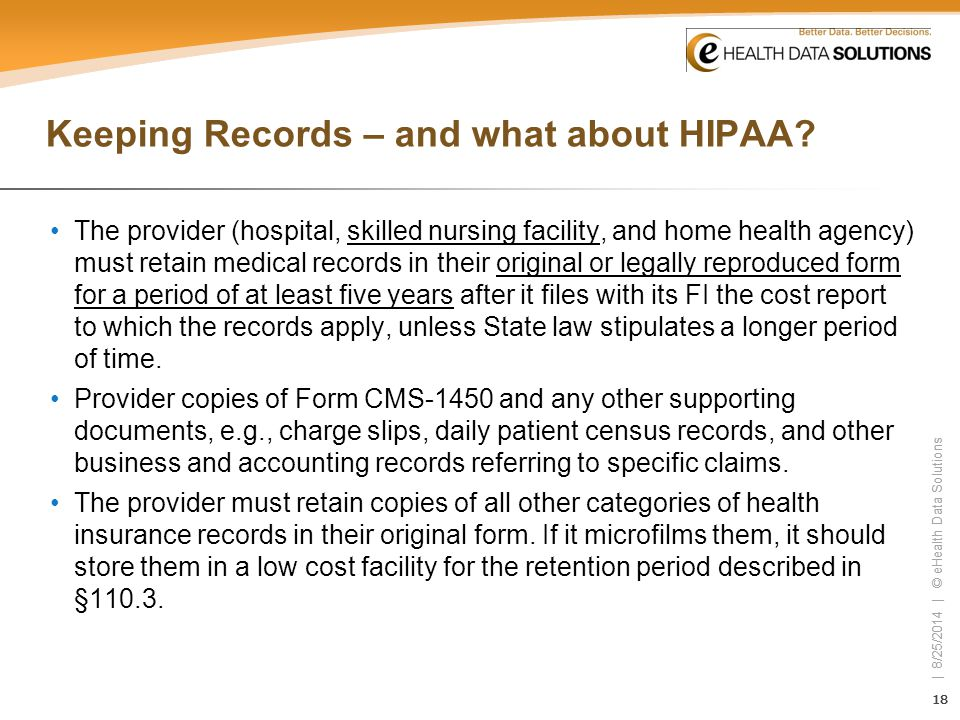 Keeping Records – and what about HIPAA