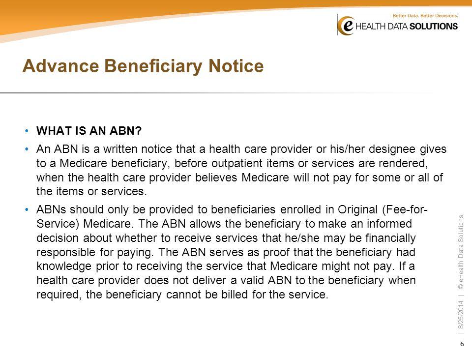 Advance Beneficiary Notice