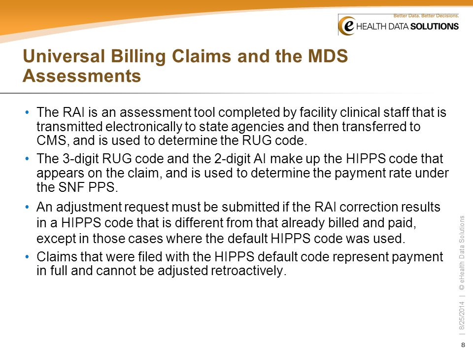 Universal Billing Claims and the MDS Assessments