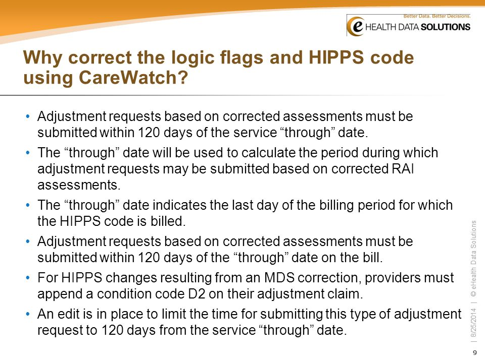 Why correct the logic flags and HIPPS code using CareWatch