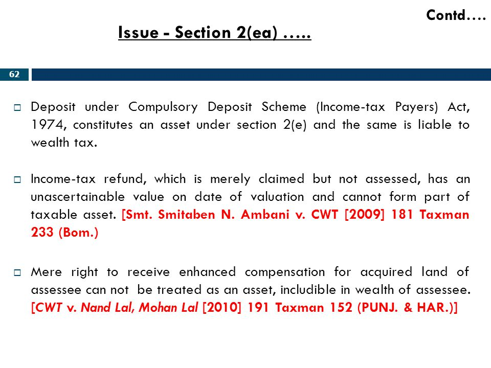 Issue - Section 2(ea) ….. Contd….