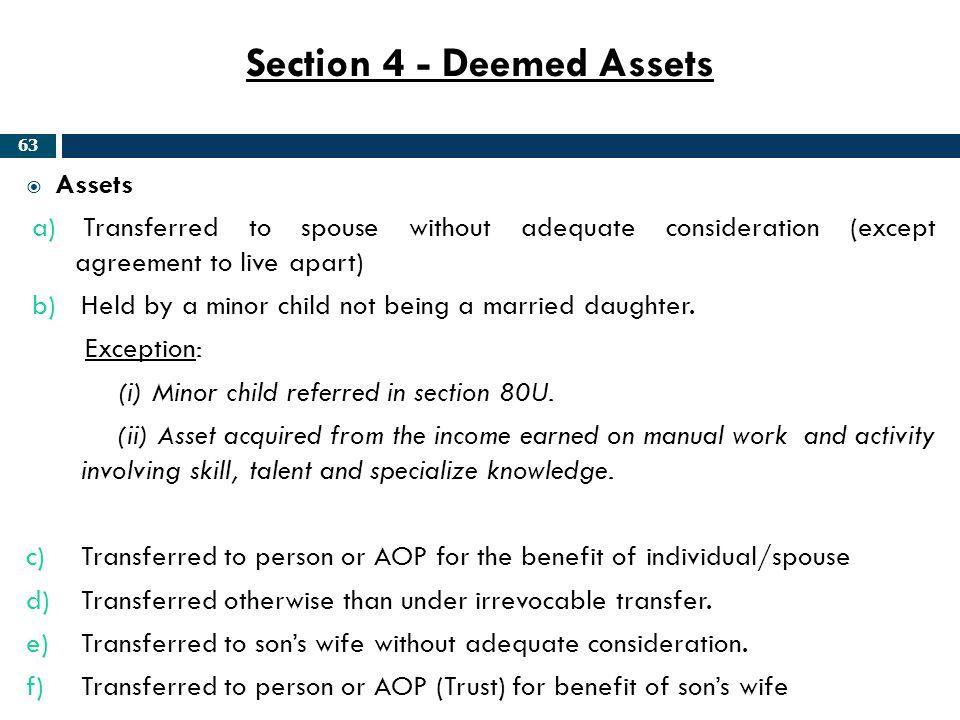 Section 4 - Deemed Assets