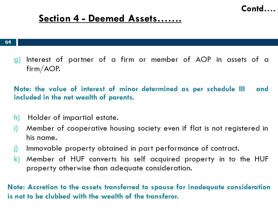Section 4 - Deemed Assets…….