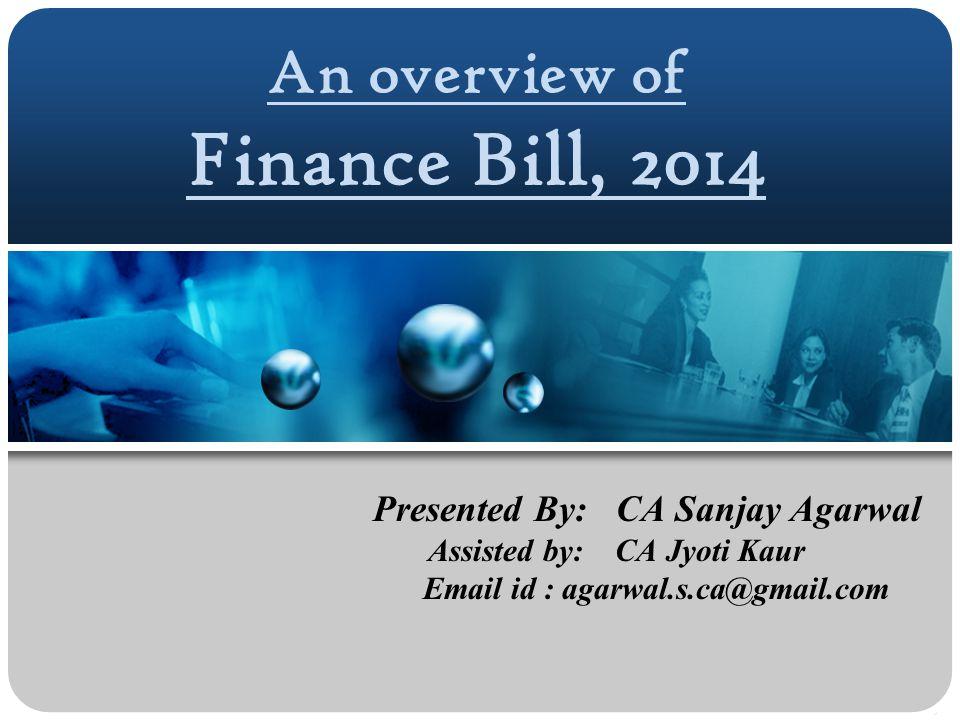 An overview of Finance Bill, 2014
