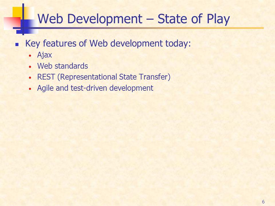 Web Development – State of Play