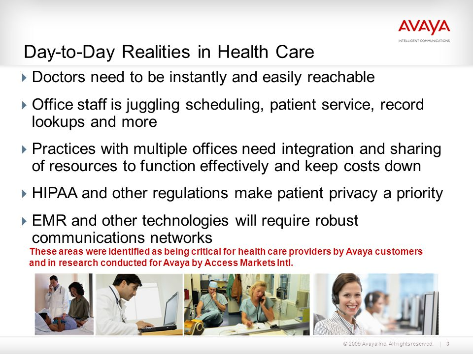 Day-to-Day Realities in Health Care