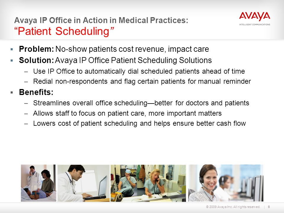 Avaya IP Office in Action in Medical Practices: Patient Scheduling