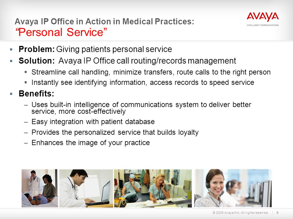 Avaya IP Office in Action in Medical Practices: Personal Service