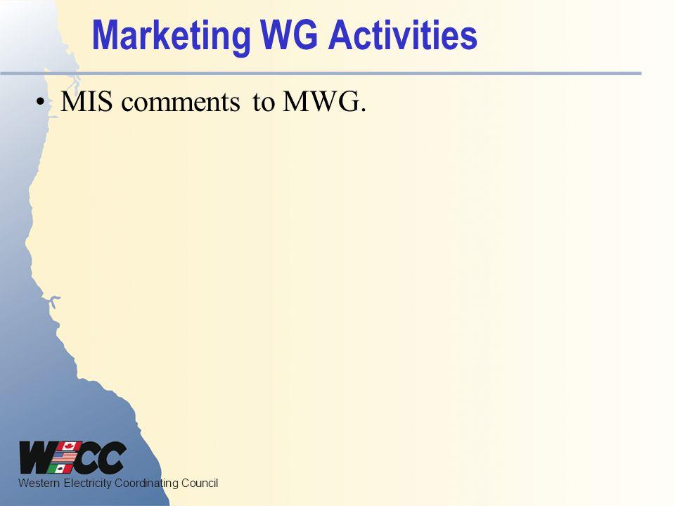 Marketing WG Activities