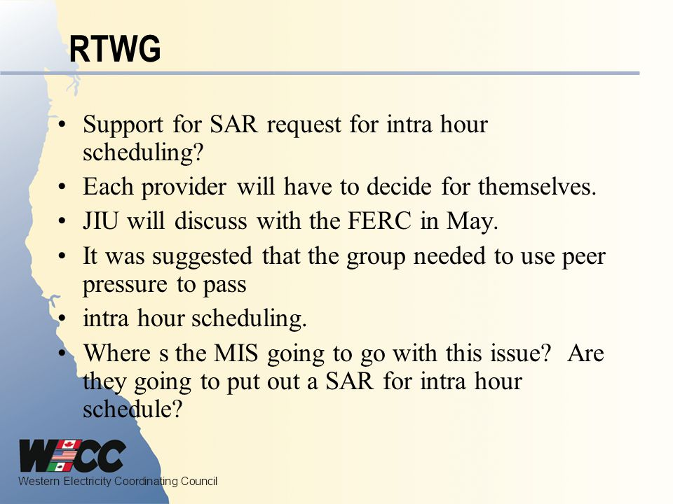 RTWG Support for SAR request for intra hour scheduling