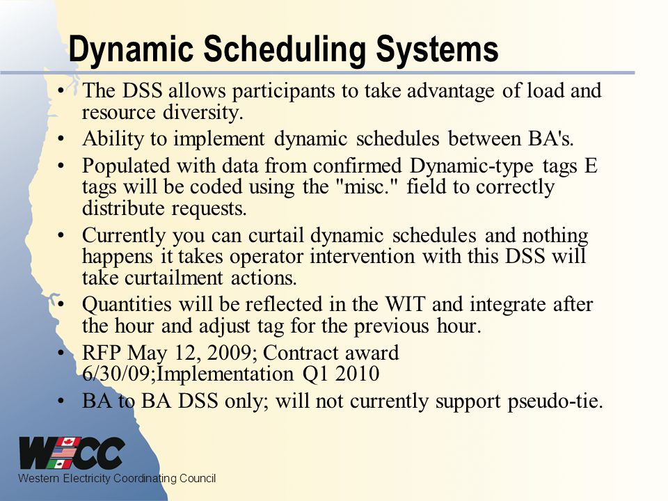 Dynamic Scheduling Systems
