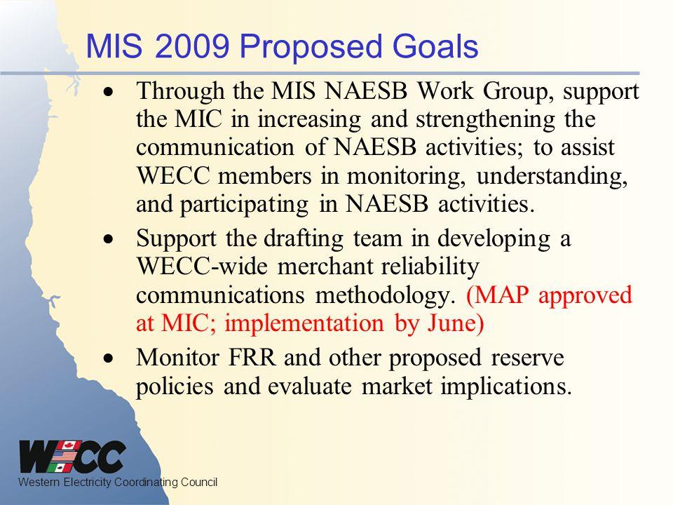 MIS 2009 Proposed Goals