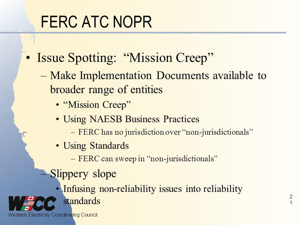 FERC ATC NOPR Issue Spotting: Mission Creep