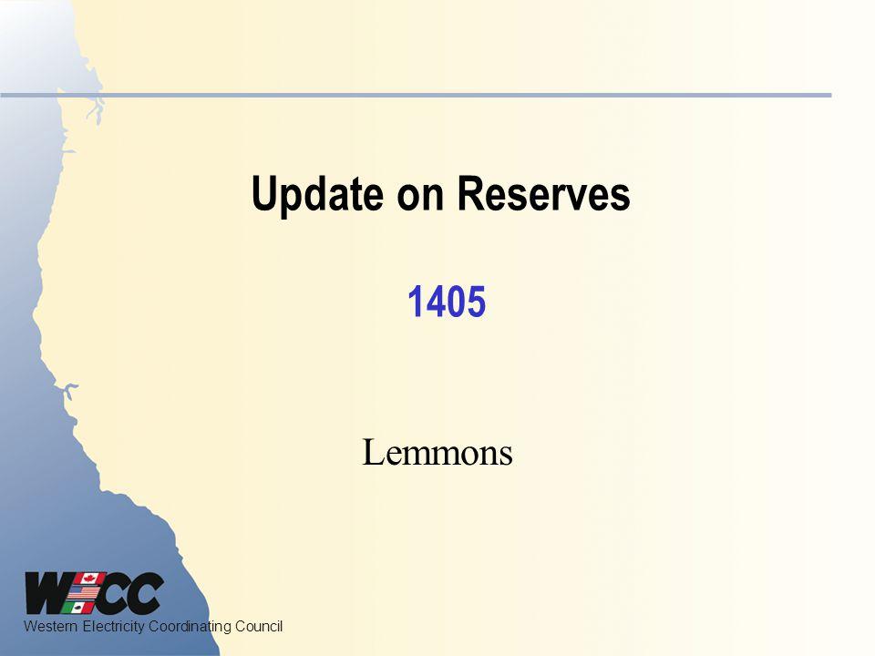 Update on Reserves 1405 Lemmons
