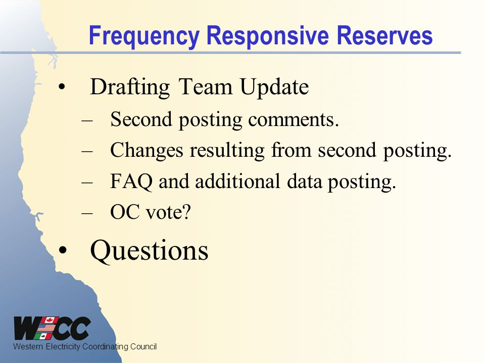 Frequency Responsive Reserves