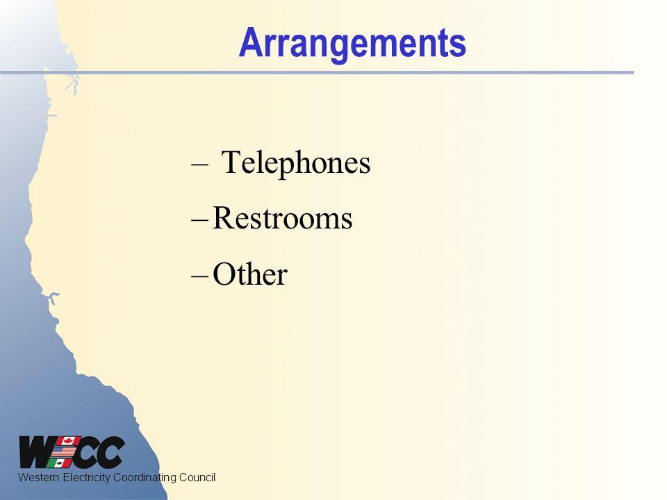 Arrangements Telephones Restrooms Other