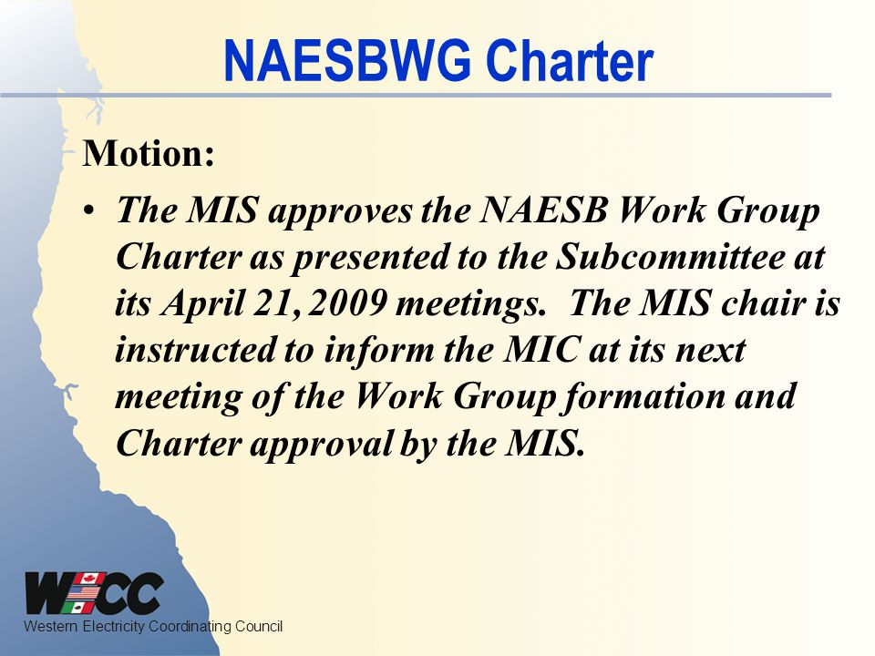 NAESBWG Charter Motion: