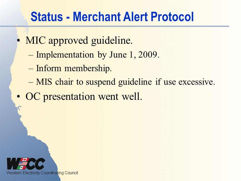 Status - Merchant Alert Protocol