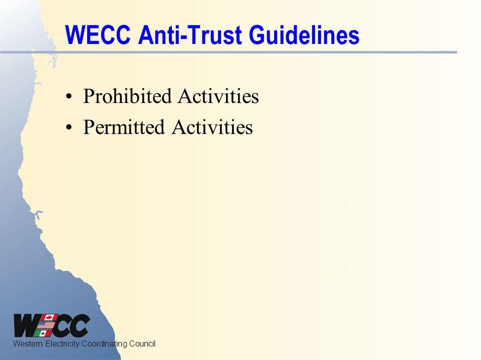WECC Anti-Trust Guidelines