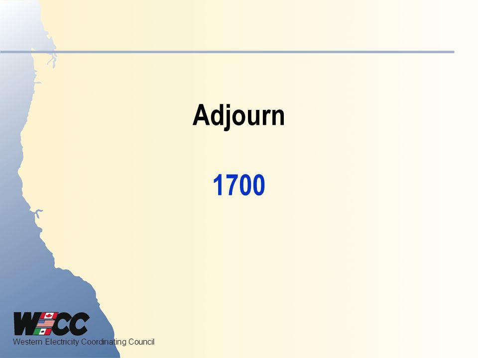 Adjourn 1700