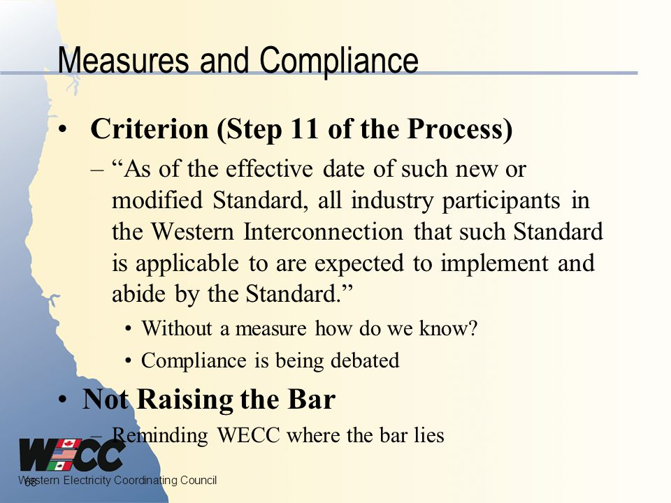 Measures and Compliance