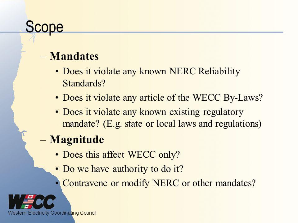 Scope Mandates Magnitude