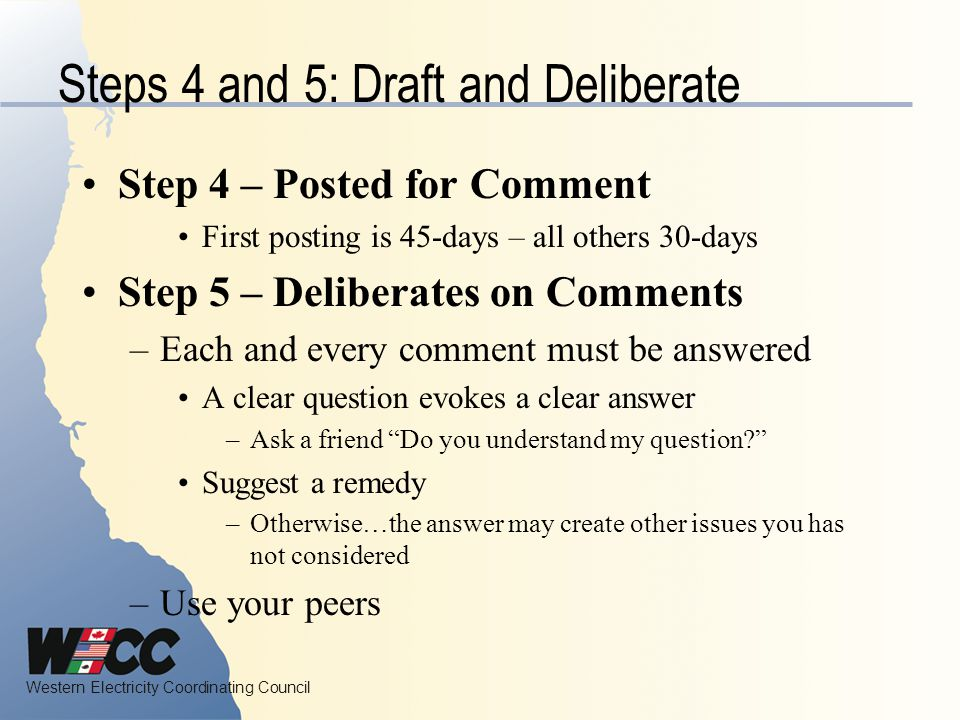 Steps 4 and 5: Draft and Deliberate
