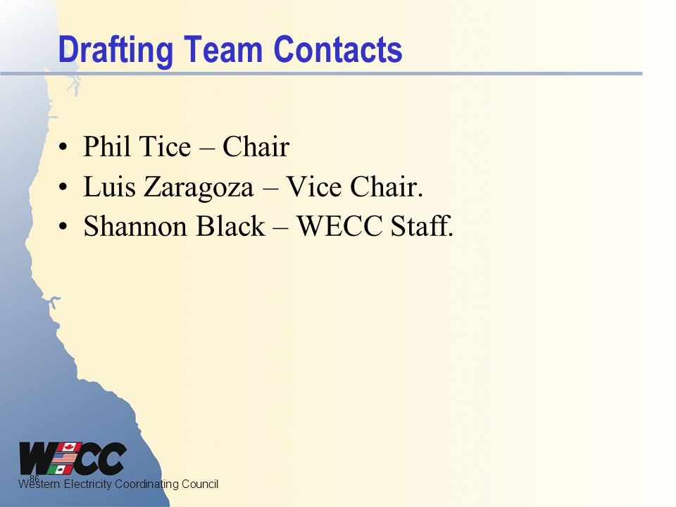Drafting Team Contacts