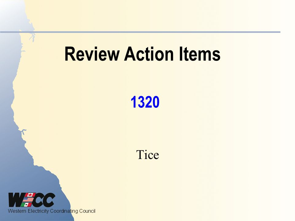 Review Action Items 1320 Tice