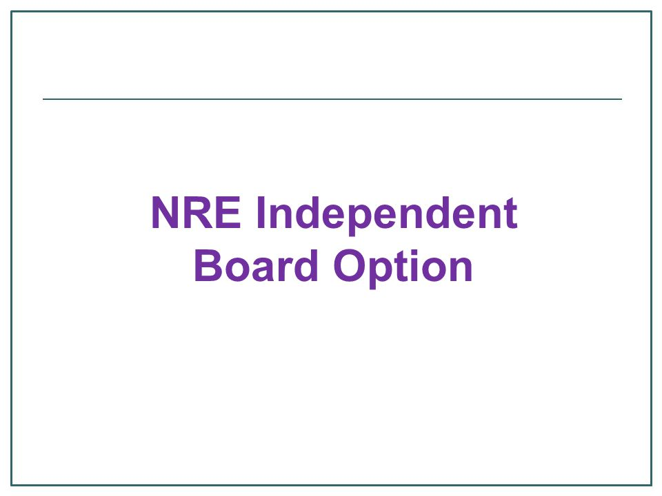 NRE Independent Board Option