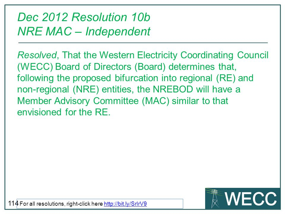 Dec 2012 Resolution 10b NRE MAC – Independent