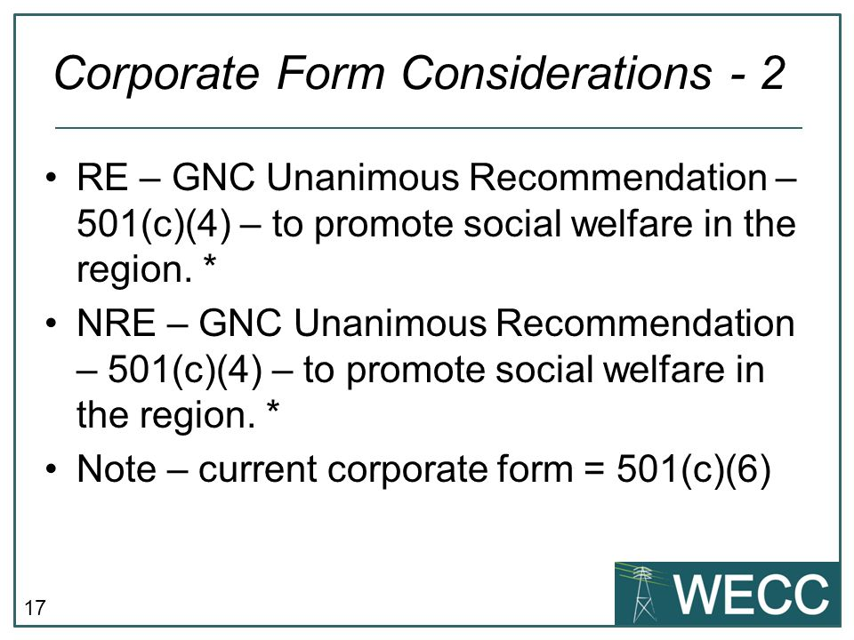 Corporate Form Considerations - 2