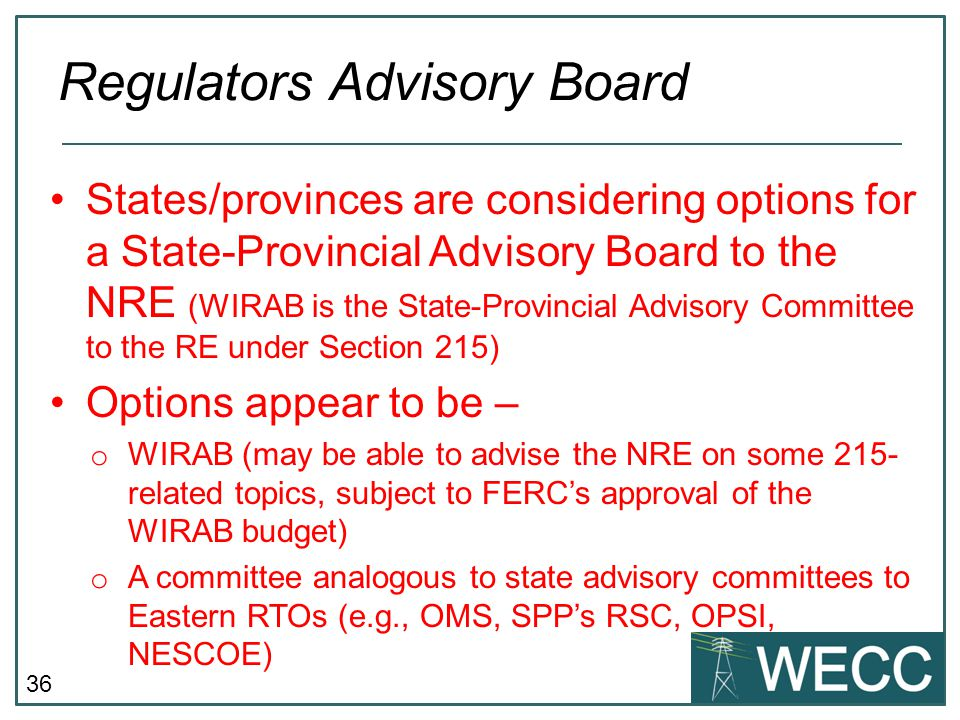 Regulators Advisory Board